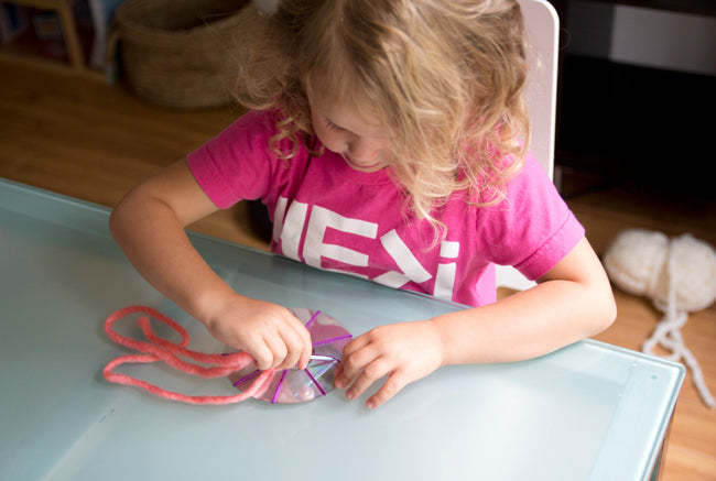 weaving with toddlers