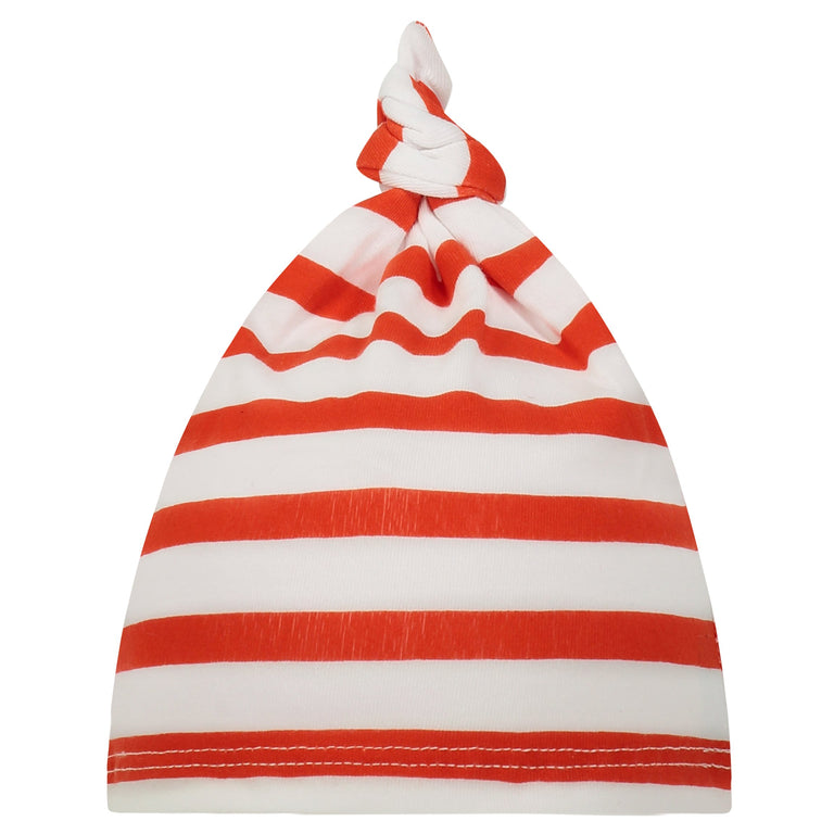 POPPY STRIPE BABY KNOTTED HAT
