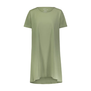 AVOCADO RINGER TEE WITH WHITE BINDING