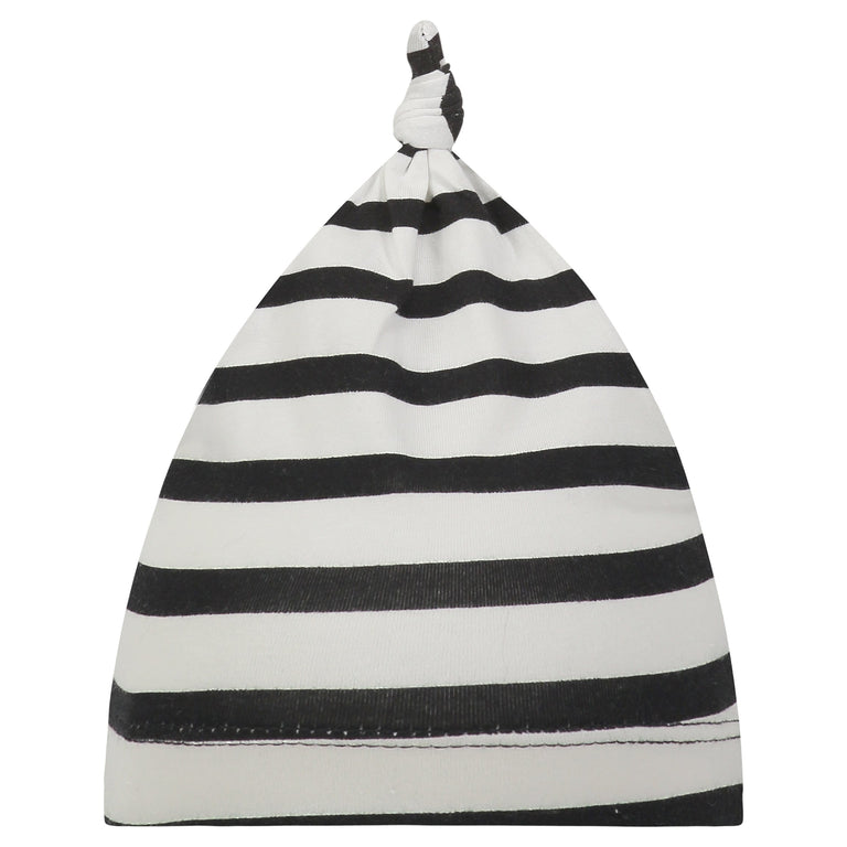 ONYX STRIPE BABY KNOTTED HAT