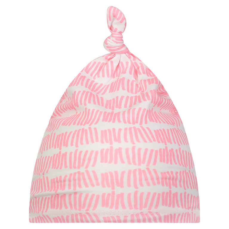 BUBBLEGUM TALLY BABY KNOTTED HAT