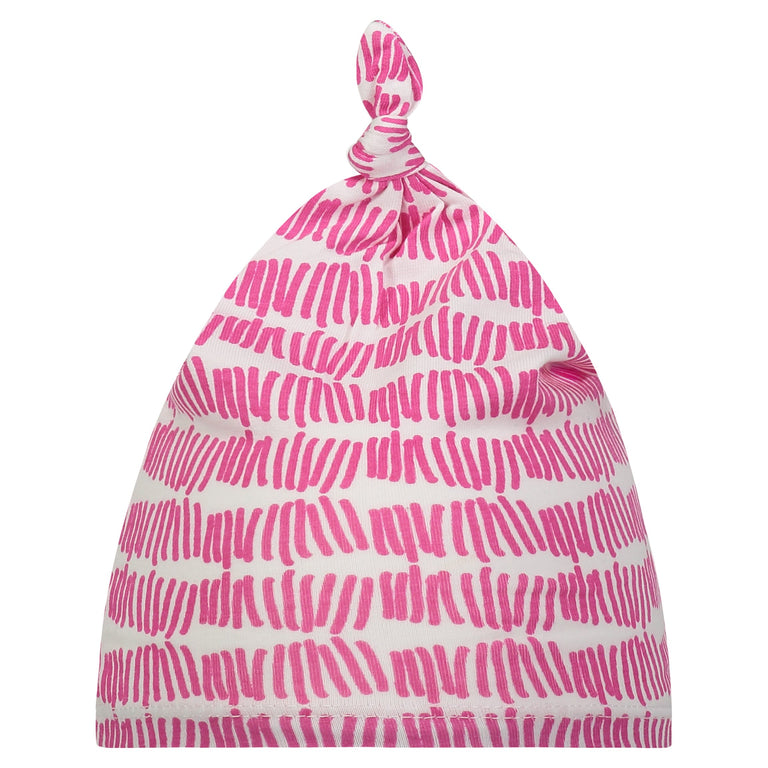 RASPBERRY TALLY BABY KNOTTED HAT