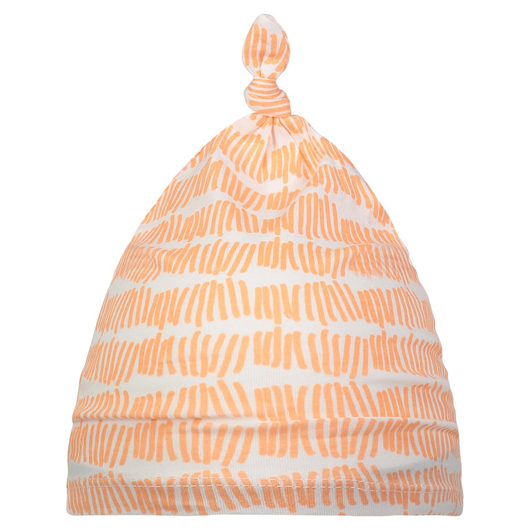 GRAPEFRUIT TALLY BABY KNOTTED HAT
