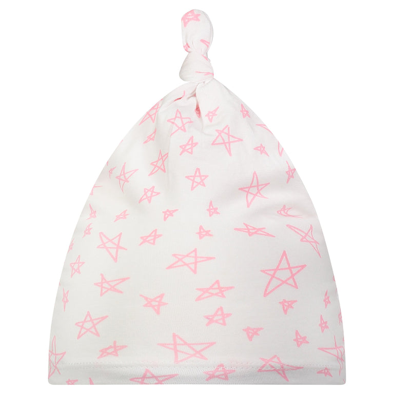 BUBBLEGUM STAR BABY KNOTTED HAT