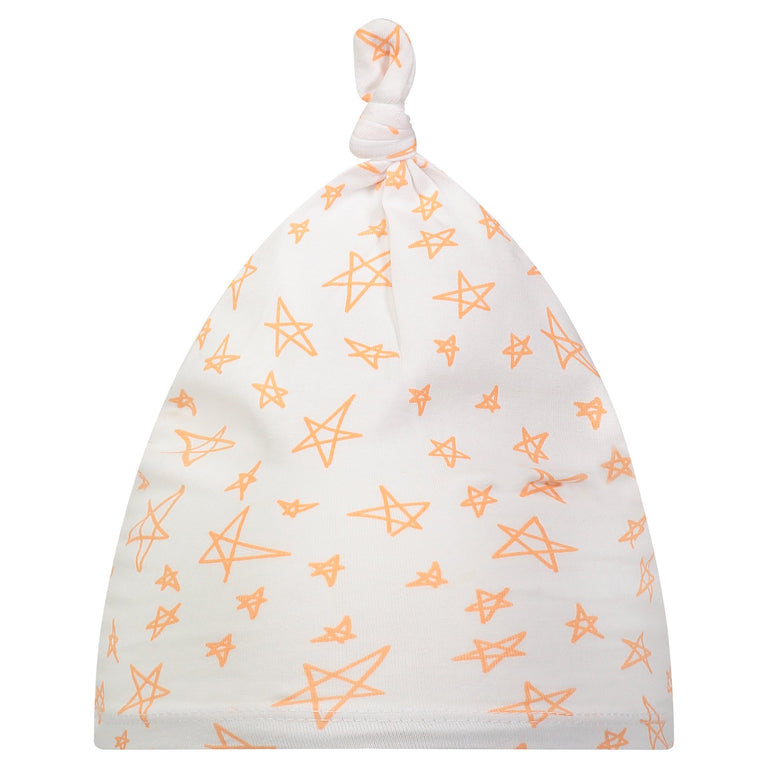 GRAPEFRUIT STAR BABY KNOTTED HAT