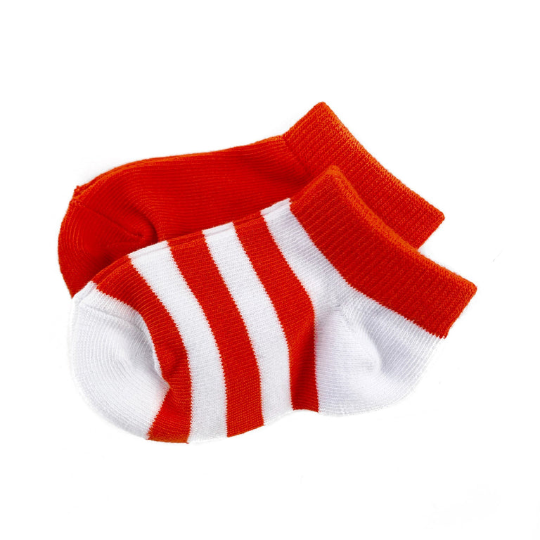 POPPY CREW SOCK TWO PACK OF STRIPE AND SOLID