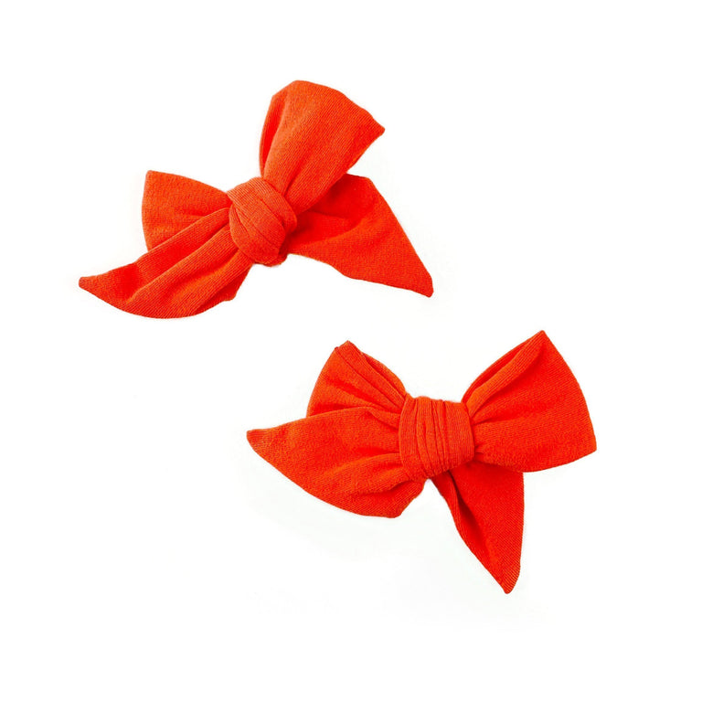 POPPY EVERDAY BOWS SET OF TWO ON CLIPS