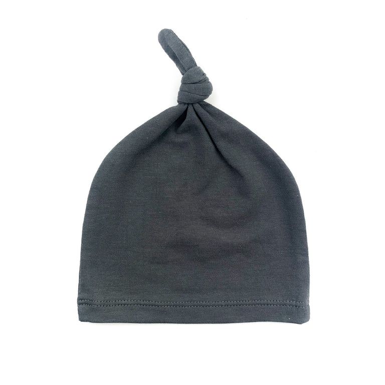 CHARCOAL FRESH BABY KNOTTED HAT