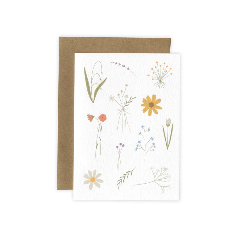 FLOWERS CARD BY LAURA SUPNIK