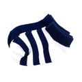Thumbnail for navy crew sock set of two, pair of solid and stripe