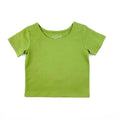 Thumbnail for avocado  short sleeve ballet top with scoop neck