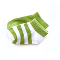 Thumbnail for avocado short sock two pack of stripe and solid