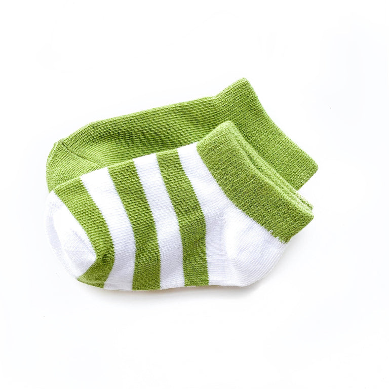 AVOCADO SHORT SOCK TWO PACK OF STRIPE AND SOLID