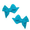Thumbnail for peacock everyday bows set of two on clips