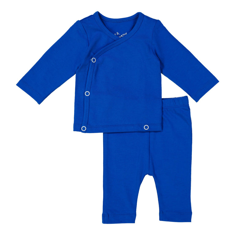 COBALT COMING HOME SET, SNAP TOP WITH MATCHING CROPPED LEGGING