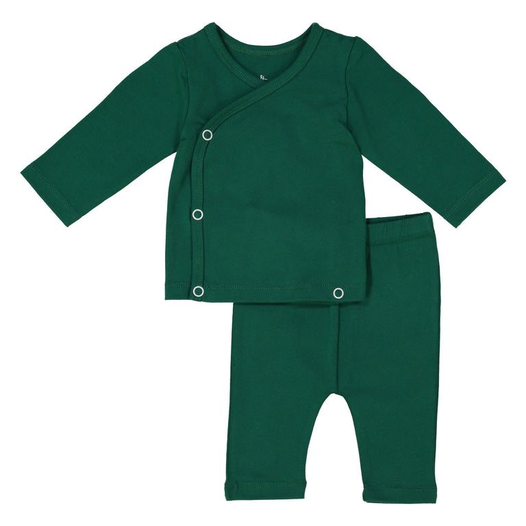 EMERALD COMING HOME SET, SNAP TOP WITH MATCHING CROPPED LEGGING