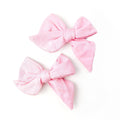 Thumbnail for blush everyday bows set of two on clips