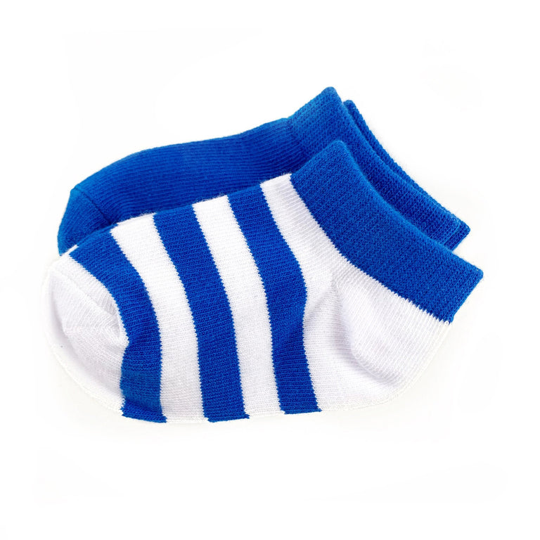 COBALT CREW SOCK TWO PACK OF STRIPE AND SOLID