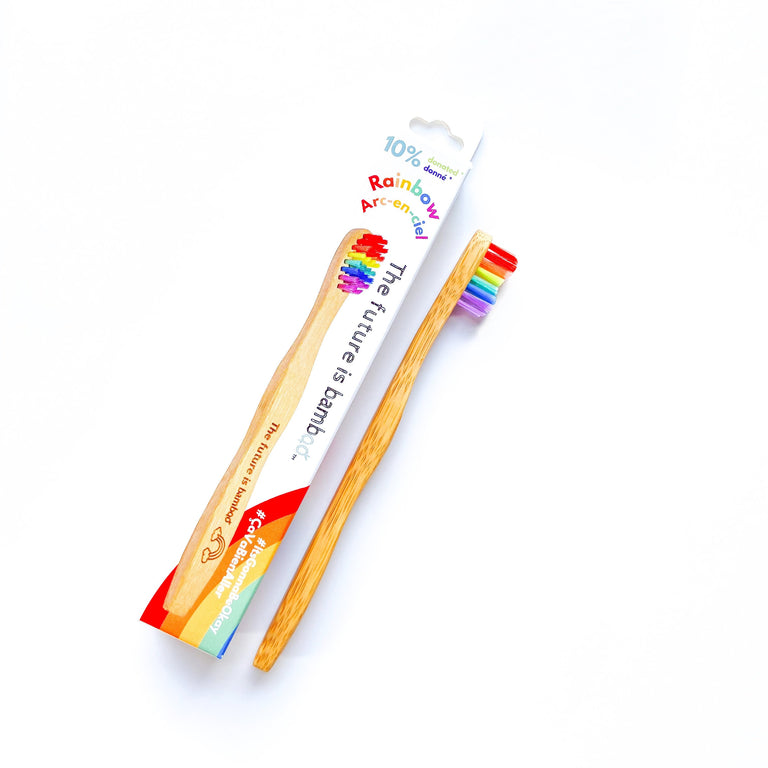 The Future Is Bamboo Toothbrushes Rainbow