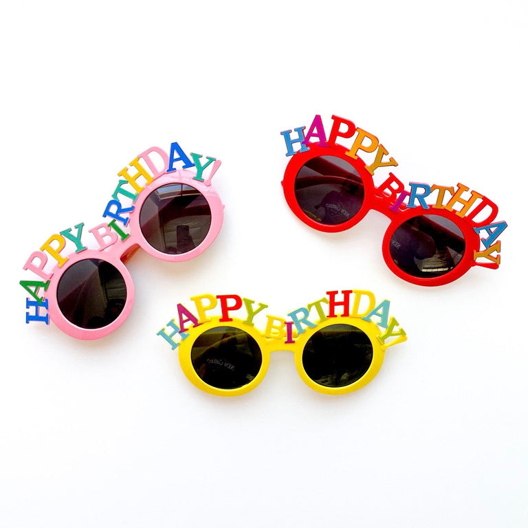 BUBBLEGUM + MARIGOLD + POPPY HAPPY BIRTHDAY SUNGLASSES