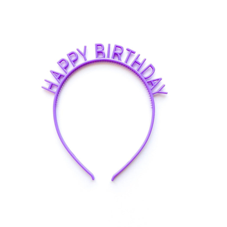 VIOLET HAPPY BIRTHDAY HEADBAND