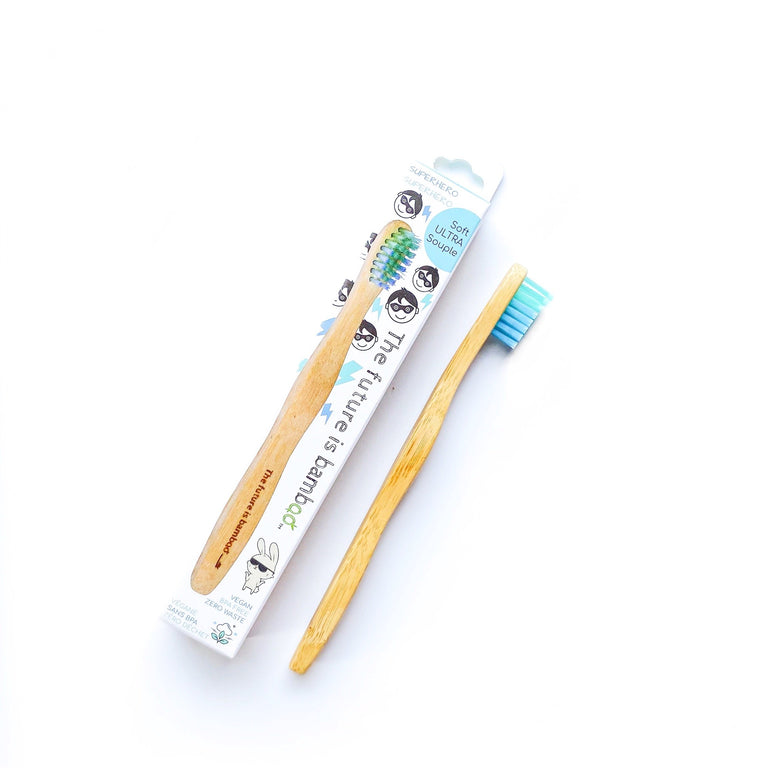The Future Is Bamboo Toothbrushes Superhero Soft Mint