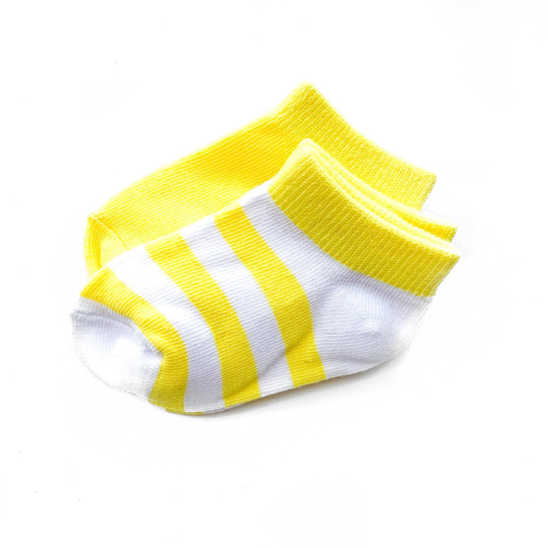 LEMON SHORT SOCK TWO PACK OF STRIPE AND SOLID