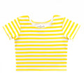 Thumbnail for lemon stripe short sleeve ballet top with scoop neck