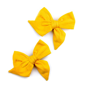 MARIGOLD EVERYDAY BOWS SET OF TWO ON CLIPS