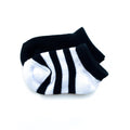 Thumbnail for onyx short sock two pack of stripe and solid