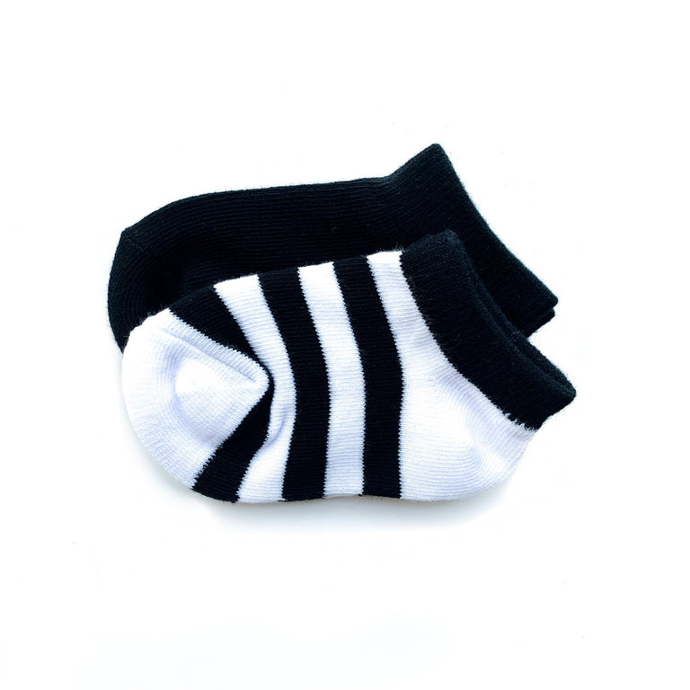 ONYX SHORT SOCK TWO PACK OF STRIPE AND SOLID