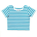 Thumbnail for peacock stripe short sleeve ballet top with scoop neck