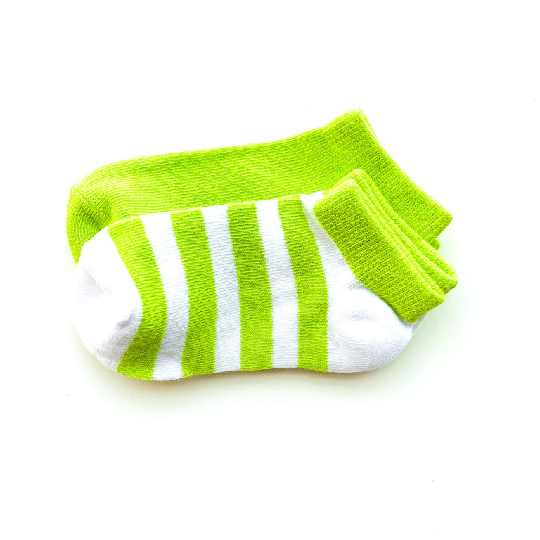 WASABI SHORT SOCK TWO PACK OF STRIPE AND SOLID