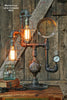 Steampunk Industrial Lamp, Steam Gauge #239 - SOLD