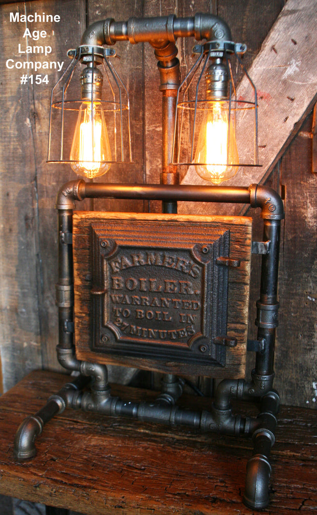 SteamPunk Lamp, Barn Wood Re-Claimed - #154 - SOLD
