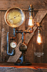 Steampunk, Industrial, Antique Steam Gauge / Gear /  Lamp #740