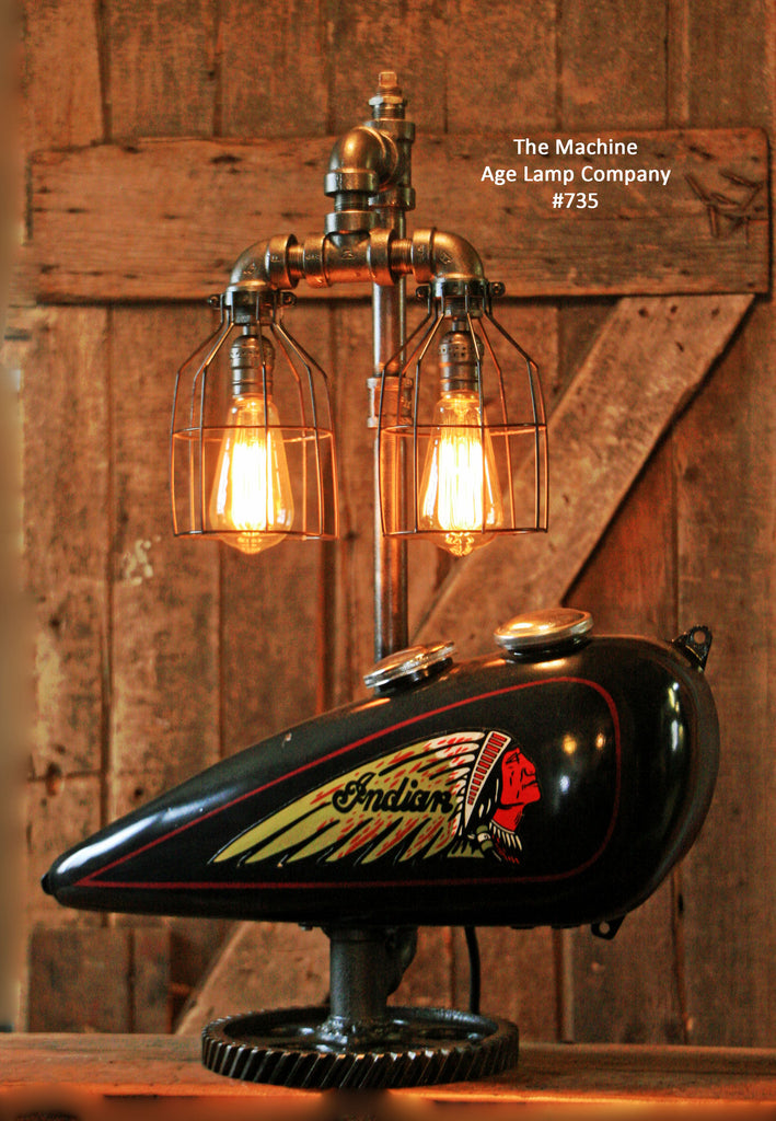 Steampunk Tank Lamp Vintage C1930 Chief Motorcycle Gas