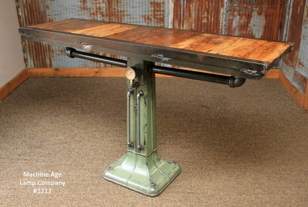 Steampunk Industrial Table, Console, Coffee, Pub , #1212 - SOLD