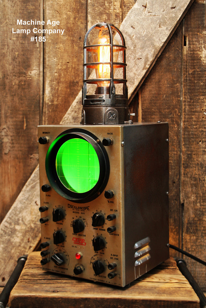 Steampunk Lamp Oscilloscope Nautical Sonar - #185