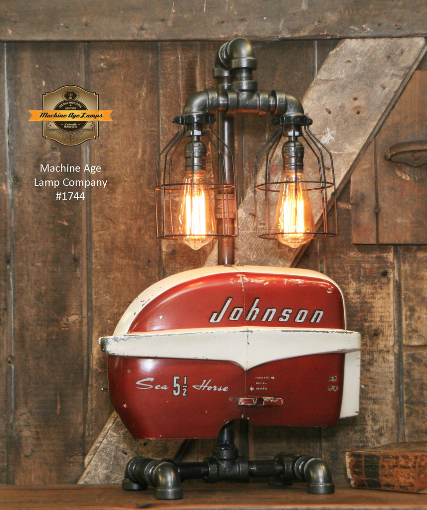 Steampunk Industrial / Boat Motor / Nautical / Marine / Cabin / Lamp #1744 sold