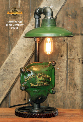 Steampunk Industrial / John Deere Gear Case Cover / Gear / Lamp #2211