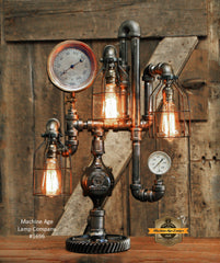 Steampunk Industrial / Steam Gauge Lamp / Railroad / Train / #1696 sold