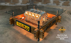 Steampunk Industrial / Carroll Shelby / 427 Engine Block  / Automotive / Barnwood / coffee Table #3330