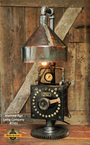 Steampunk Industrial / Westinghouse / Rheostat / Copper Shade / Lamp #1501