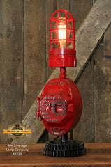 Steampunk Industrial Machine Age Lamp / Fireman / Police / Antique Call box / Alarm / Lamp #2224