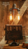Steampunk Industrial, Antique Stove Door Lamp, #431 - SOLD