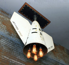 Steampunk Airplane Aviation Jet Light / Douglas A-4 Skyhawk External tank end hanging lamp / Machine Age Lamp / #DC114 sold