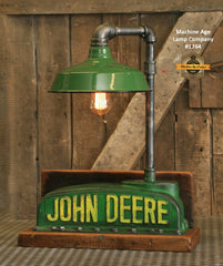 Steampunk Industrial / Antique John Deere Radiator Top / Lamp / Barnwood / Lamp #1764