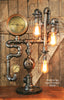 Steampunk Industrial Steam Gauge Lamp, New York Ashcroft #1060