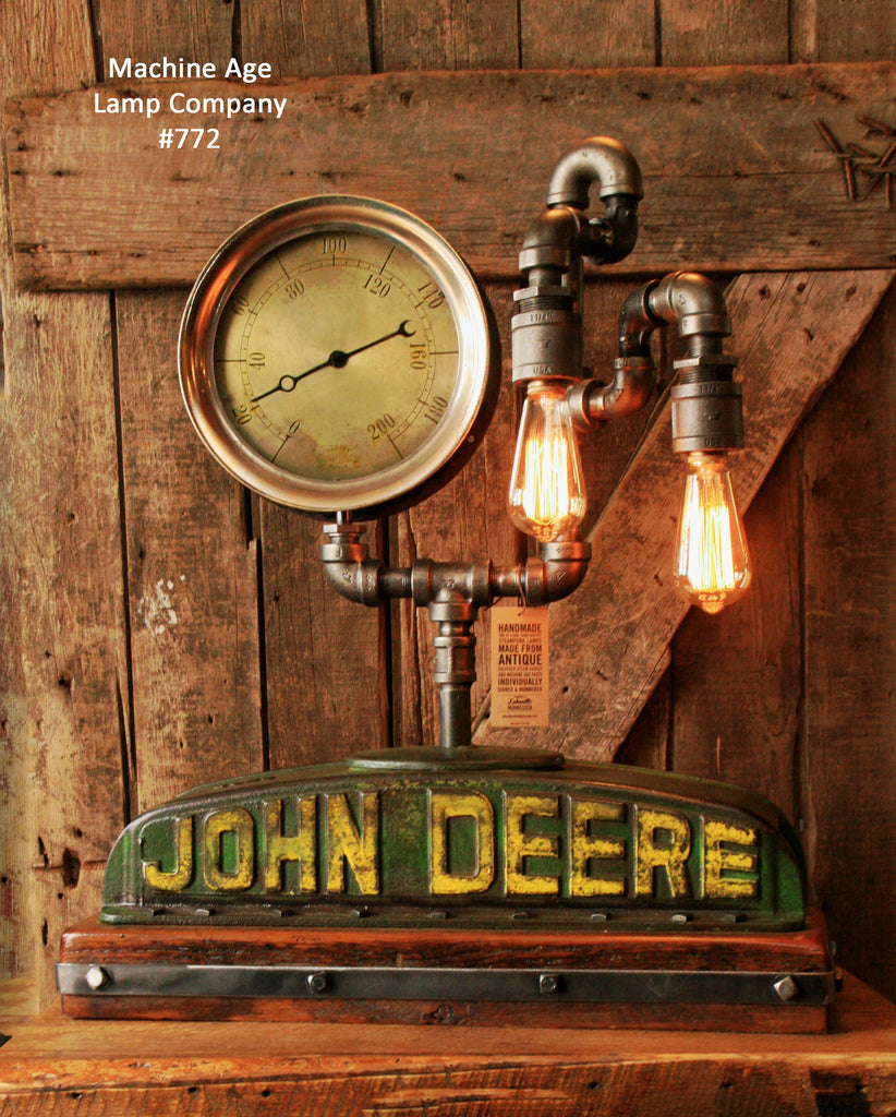 Steampunk Industrial, John Deere Model D Radiator Top, Steam Gauge #772